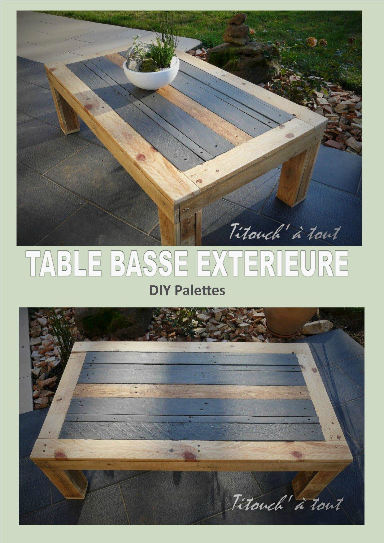 Table Palette Exterieur | Banquette De Jardin En Bois De Récup Et Sa ...