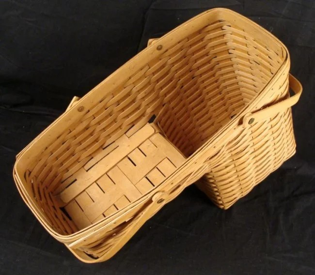 Longaberger Hand Woven Step Stair Basket Lot 10250