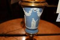 19: Wedgewood Jasperware lamp : Lot 19