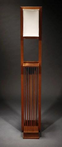 1142: A Frank Lloyd Wright designed walnut floor lamp ...