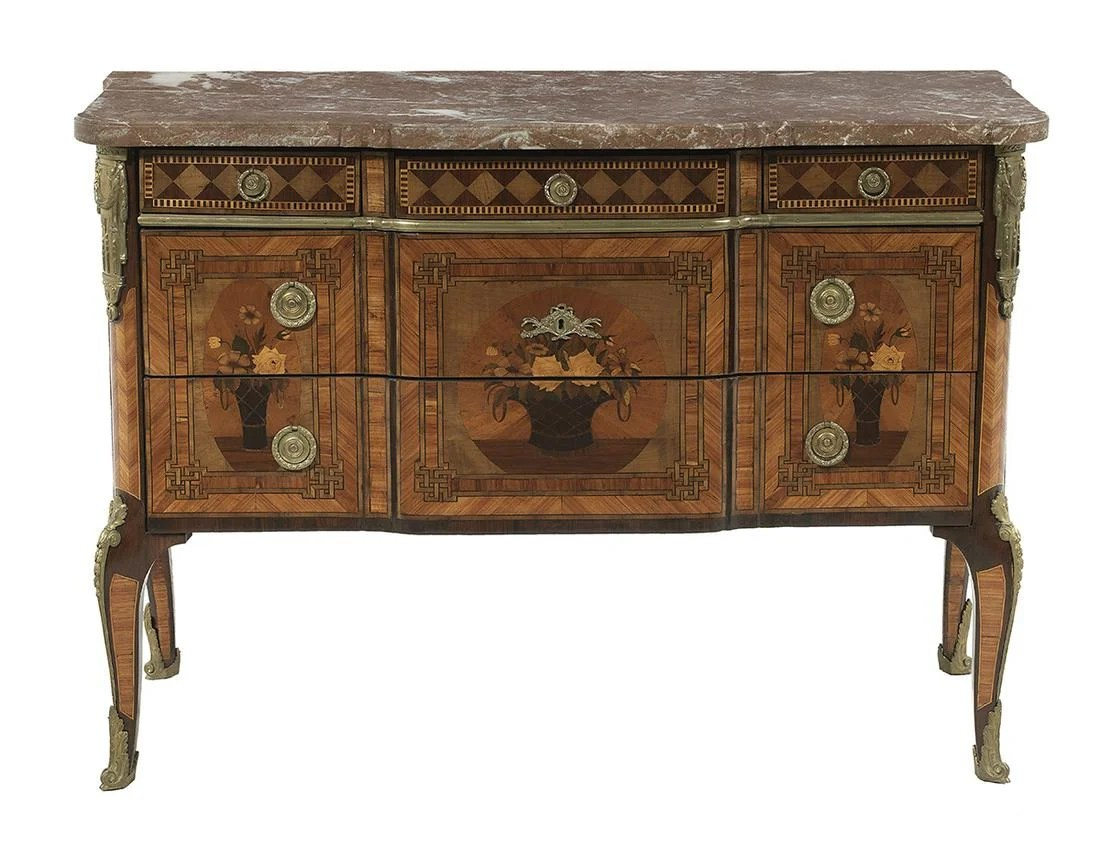 Commodes Louis 15 Louis Xv Xvi Kingwood And Marble Top Commode