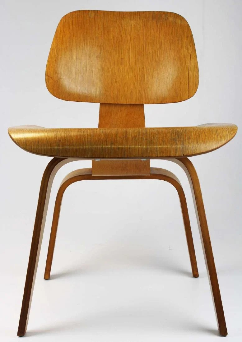 Sedia Wooden Eames Charles Eames Potato Chip Chair On Liveauctioneers