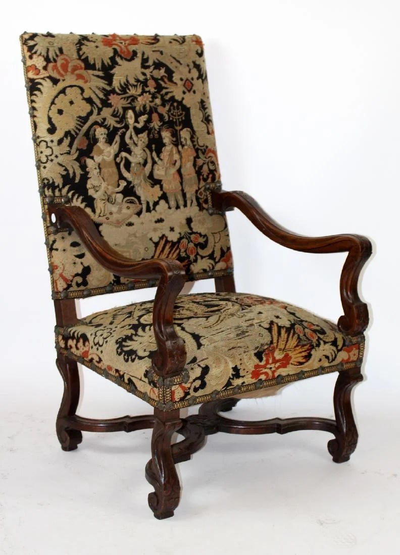 Fauteuils Louis Xiv French Louis Xiv Walnut Fauteuil On Liveauctioneers