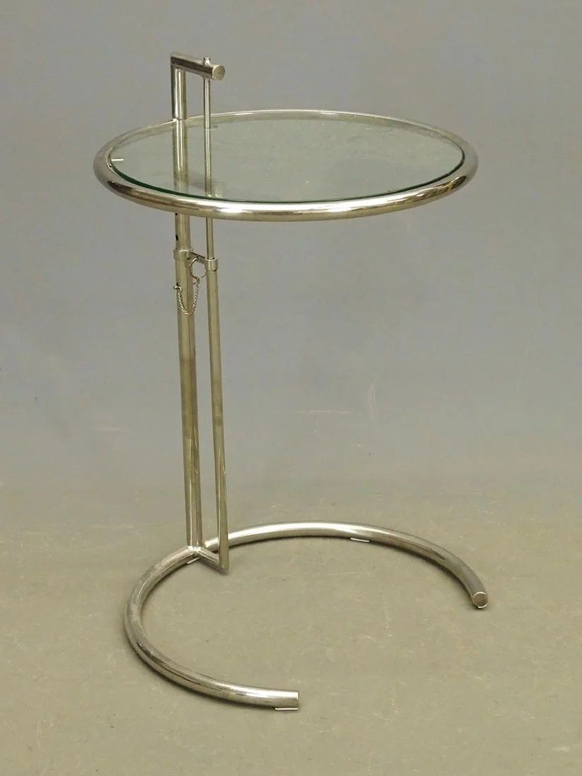Eileen Gray Table Eileen Gray Glass Top Table On Liveauctioneers
