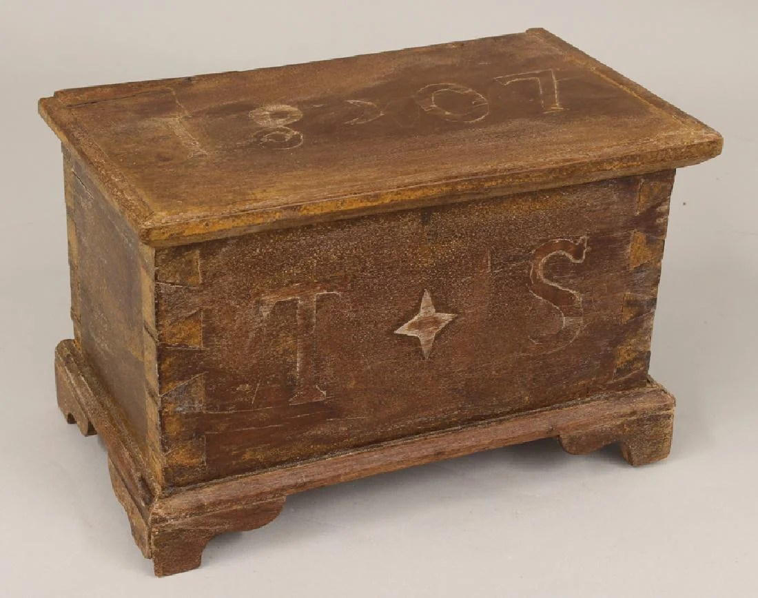 Wood Blanket Box Miniature Blanket Chest 1807 On Liveauctioneers