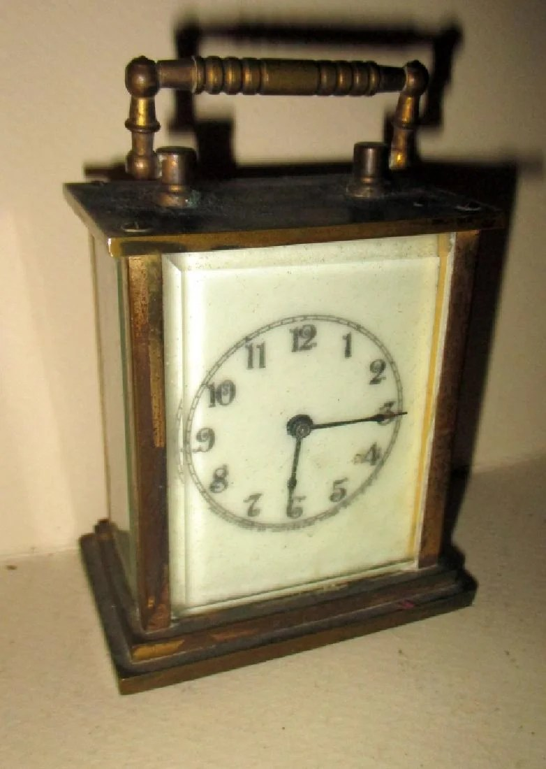 American Made Alarm Clock Small American Made Carriage Clock On Liveauctioneers