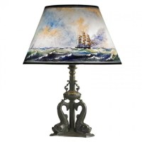 PAIRPOINT Fine nautical-themed table lamp : Lot 285