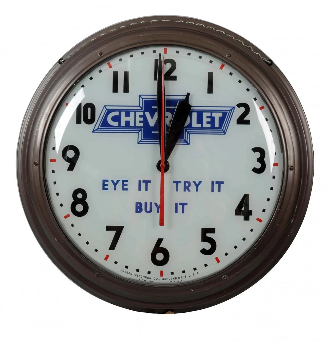 Buy Clock Rare Chevrolet