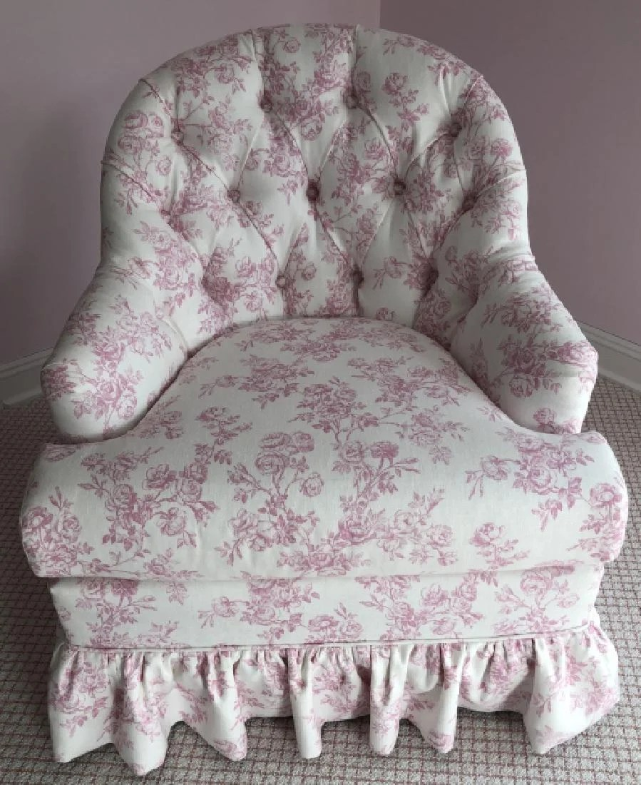Fauteuil Shabby Chic Shabby Chic Style Floral Upholstered Arm Chair On Liveauctioneers