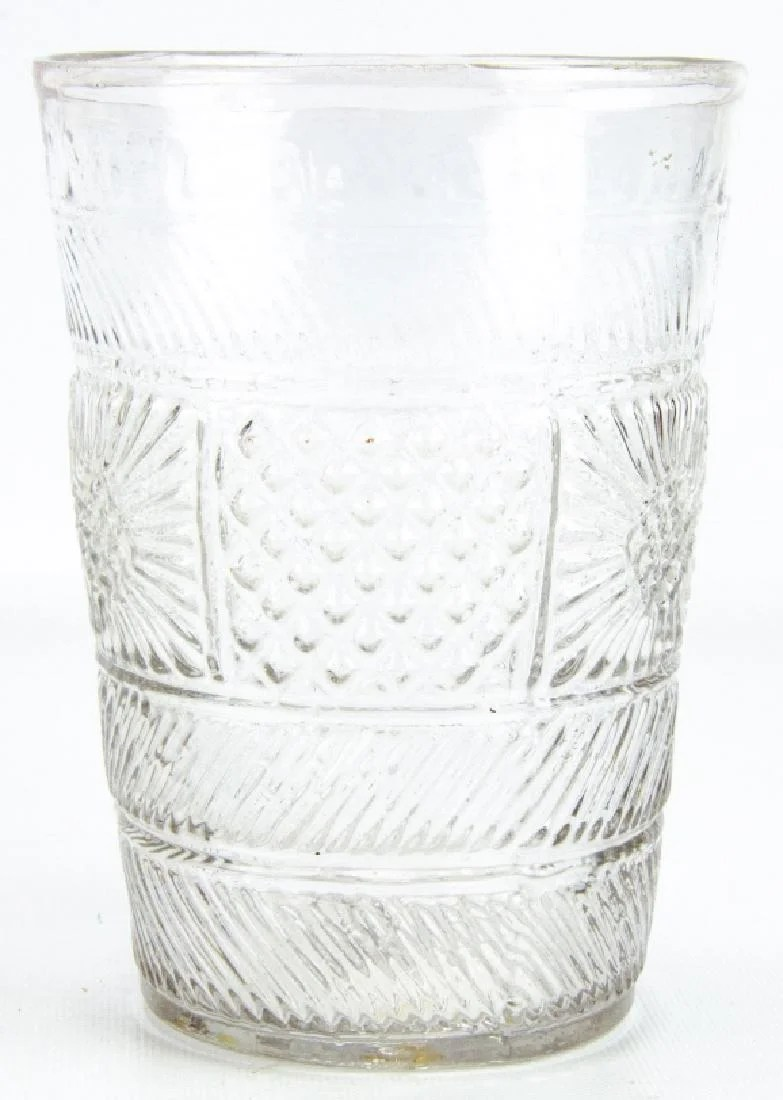 Patterned Glass 19 Century Hand Blown Patterned Glass Vase On Liveauctioneers