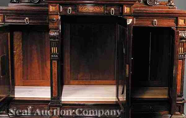 0102 Herter Brothers Rosewood Parlor Cabinet