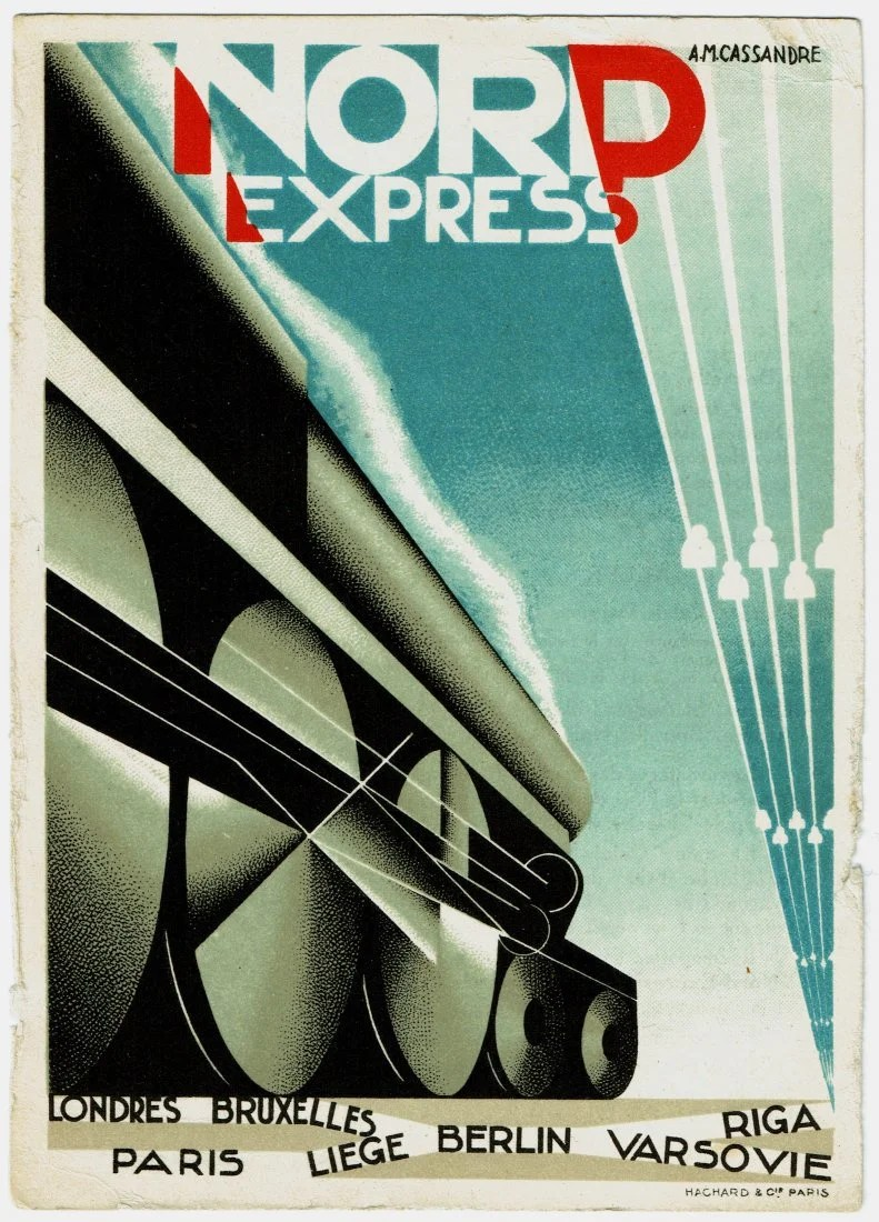 Deco Poster Nord Express Cassandre Art Deco Poster Card On Liveauctioneers