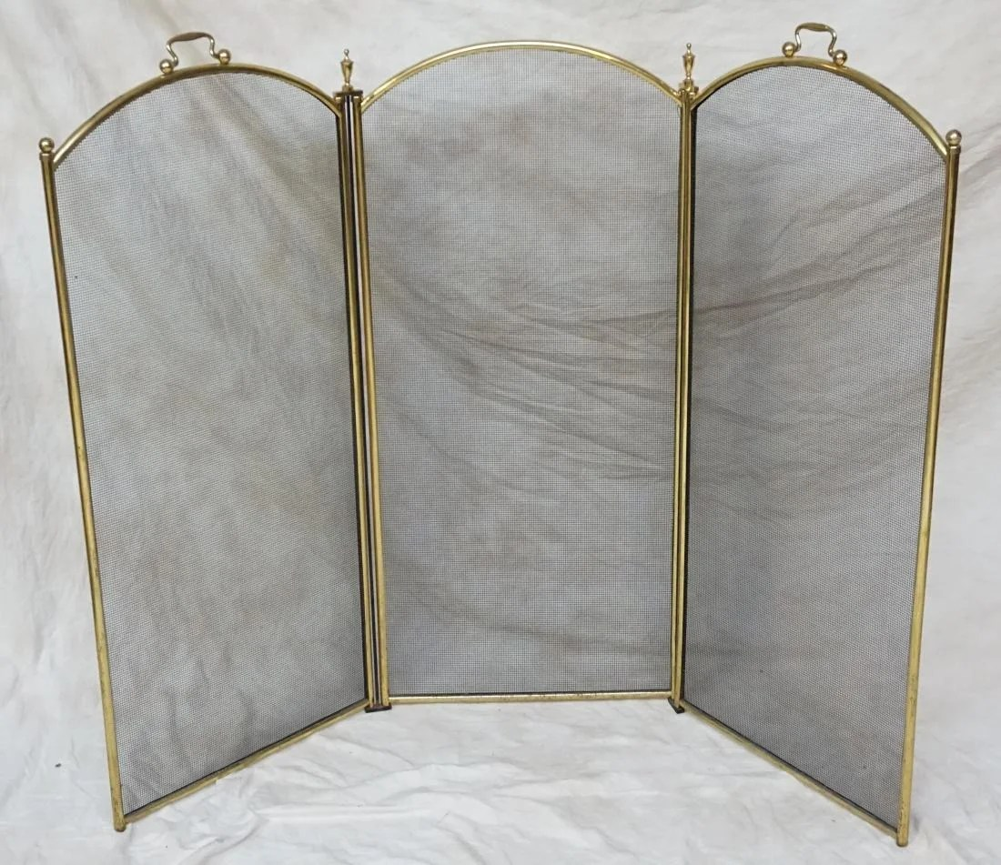 Brass Fireplace Screen Arched Antique Brass Fireplace Screen On Liveauctioneers
