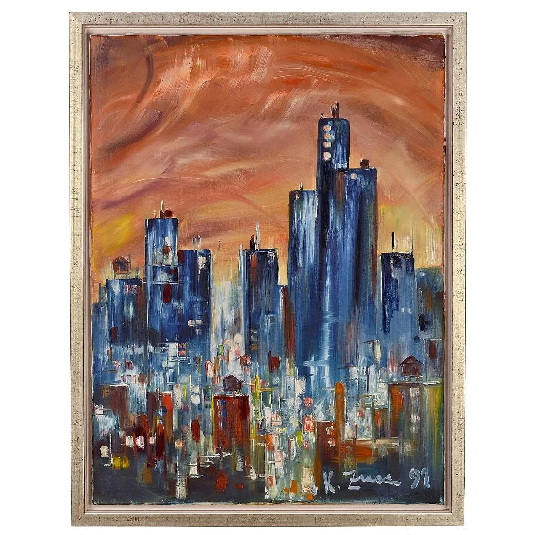 Fotoleinwand 60x80 Futuristic Cityscape By Konrad Zuse 1991 Nov 11 2017 Auction