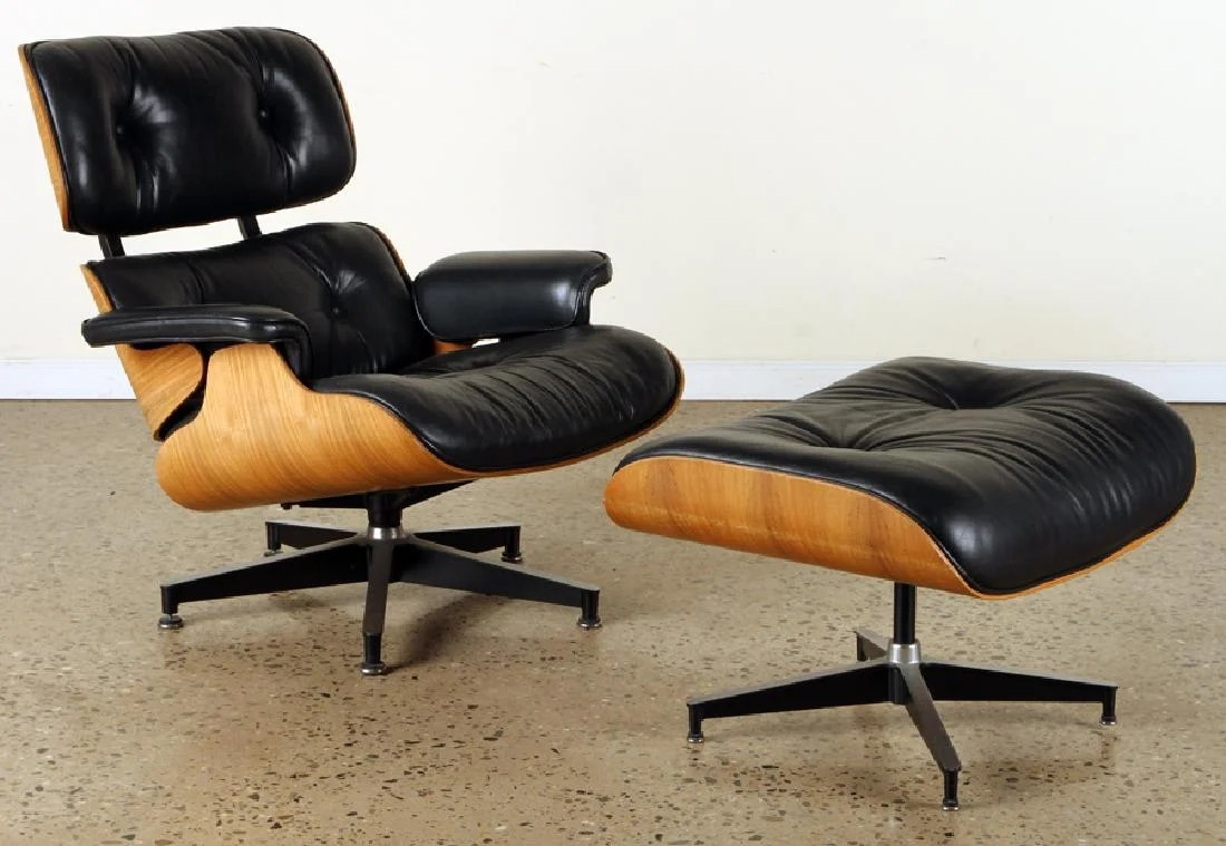 Charles Eames Charles Eames For Herman Miller Chair Ottoman On Liveauctioneers