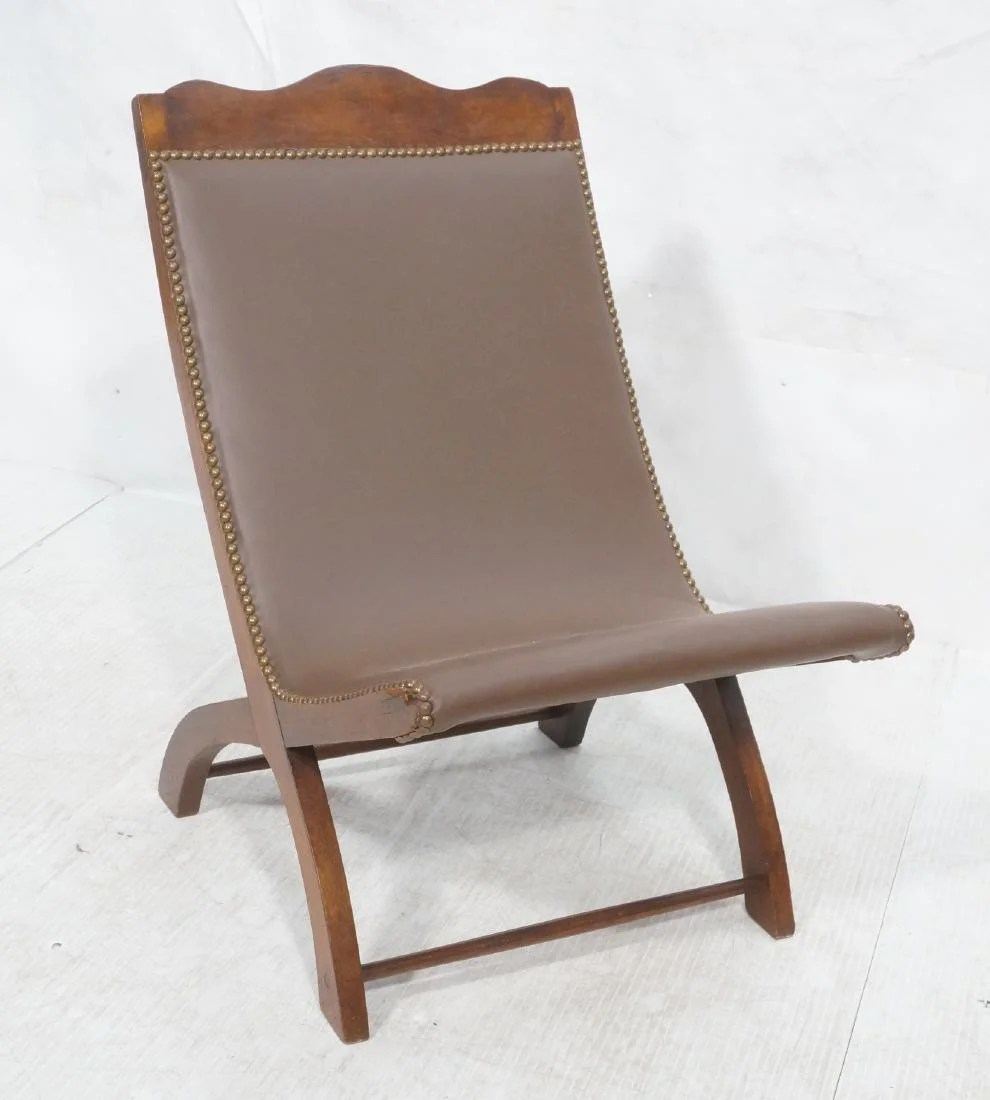 Leather Lounge Clara Porset Butaque Brown Leather Lounge Chair On Liveauctioneers