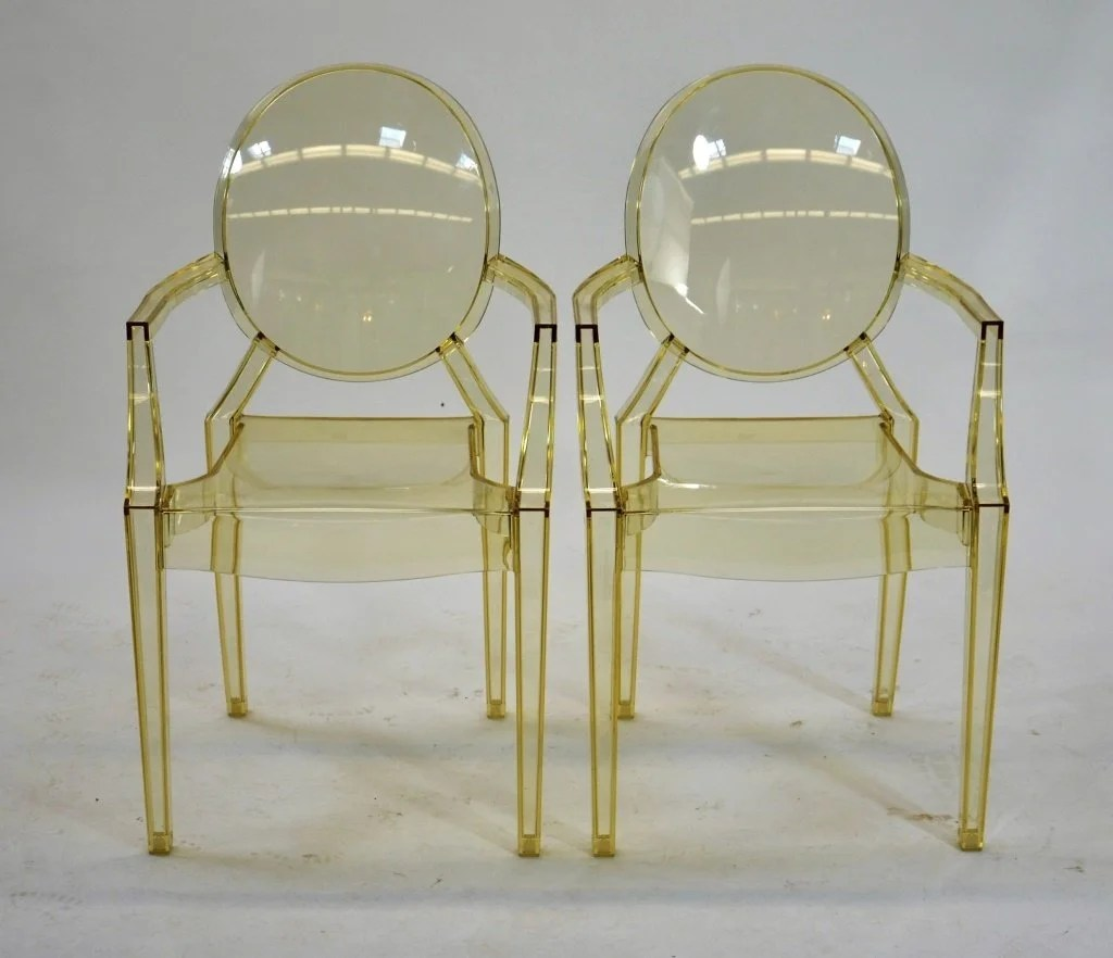 Philippe Starck Ghost Chair Two Kartell Louis Ghost Chairs By Philippe Starck On Liveauctioneers