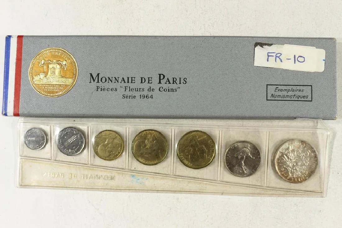 Mint Set 1964 France 7 Coin Mint Set With Silver On Liveauctioneers