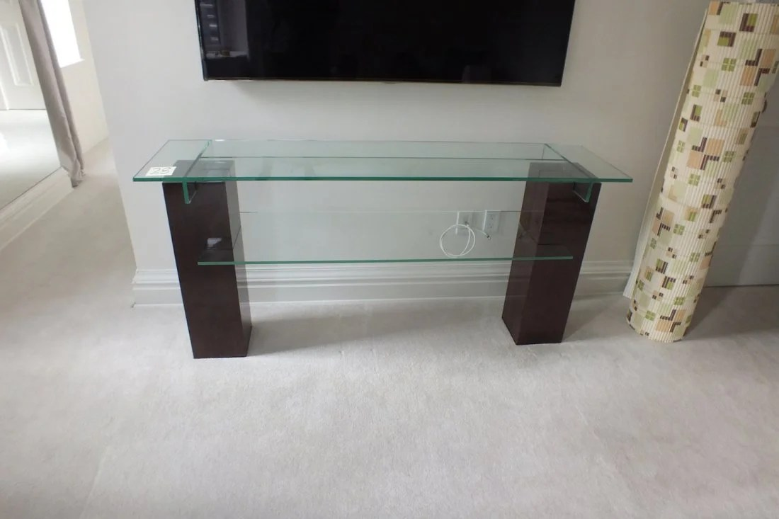 Roche Bobois Console Glass Console Table By Roche Bobois On Liveauctioneers