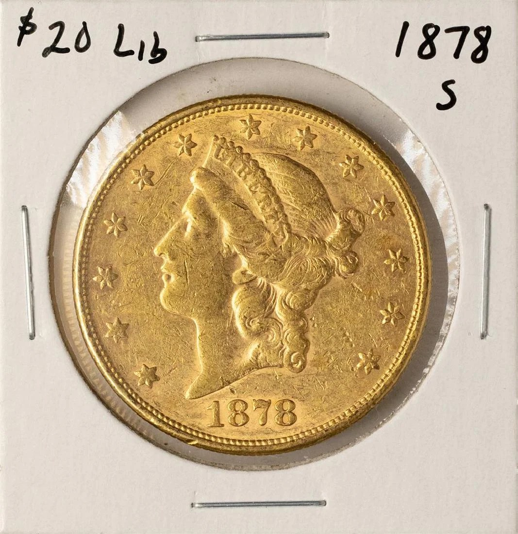 Gold S 1878 S 20 Liberty Head Double Eagle Gold Coin On Liveauctioneers