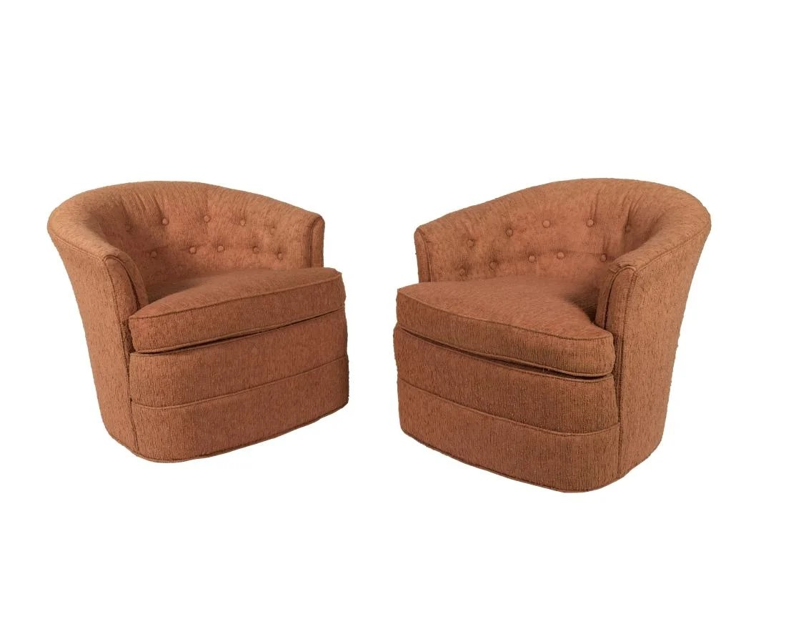 Tub Chairs Huffman Koos Pair Swivel Tub Chairs On Liveauctioneers