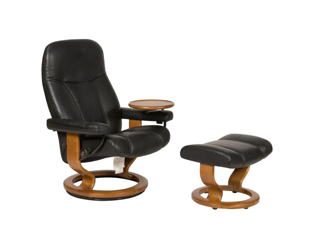 Ekornes Stressless Ekornes Stressless Chair And Ottoman On Liveauctioneers