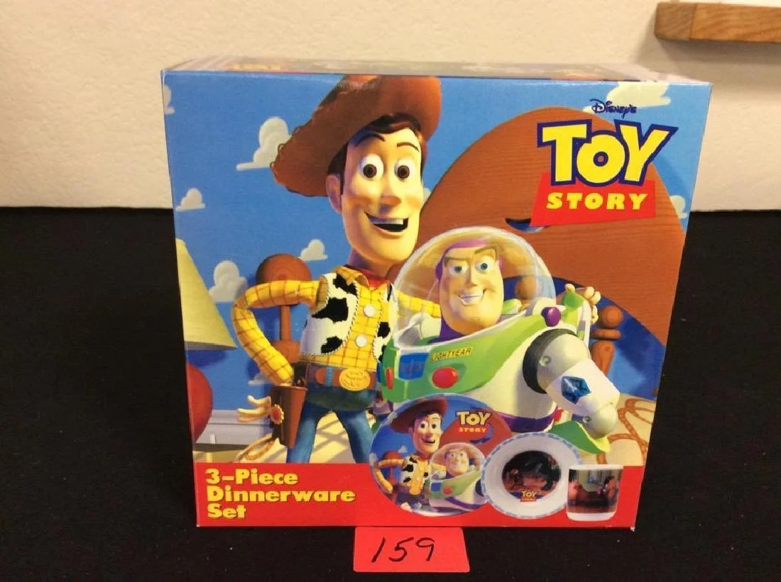 Toy Story Toys Vintage Vintage Original 1995 Toy Story 3 Piece Dinnerware