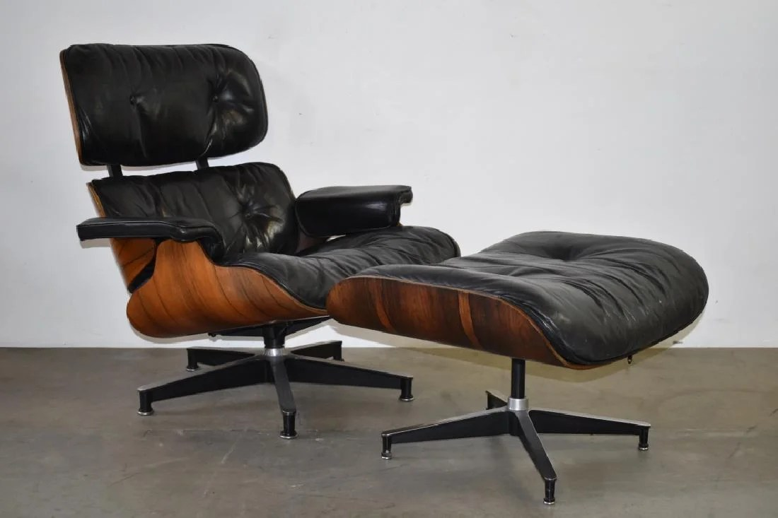 Eames Ottoman 1960 S Ray Charles Eames Lounge Chair W Ottoman On Liveauctioneers