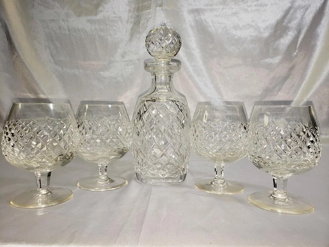 Decanter Wine Glas Waterford Alana Decanter And 4 Wine Glasses Jan 5 2019 Orlando Estate Auction In Fl On Liveauctioneers