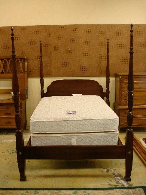 Queen Size Four Post Bed Frame 30 Mahogany Wheat Carved Queen Size Four Poster Bed