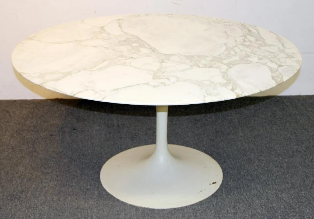 Saarinen Knoll Table Eero Saarinen Knoll Marble Top Tulip Dining Table On Liveauctioneers