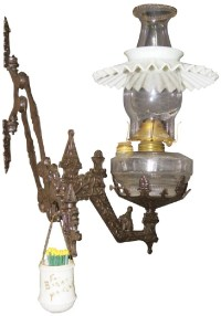 Wall Hanging Lamp with Cast Iron Bracket