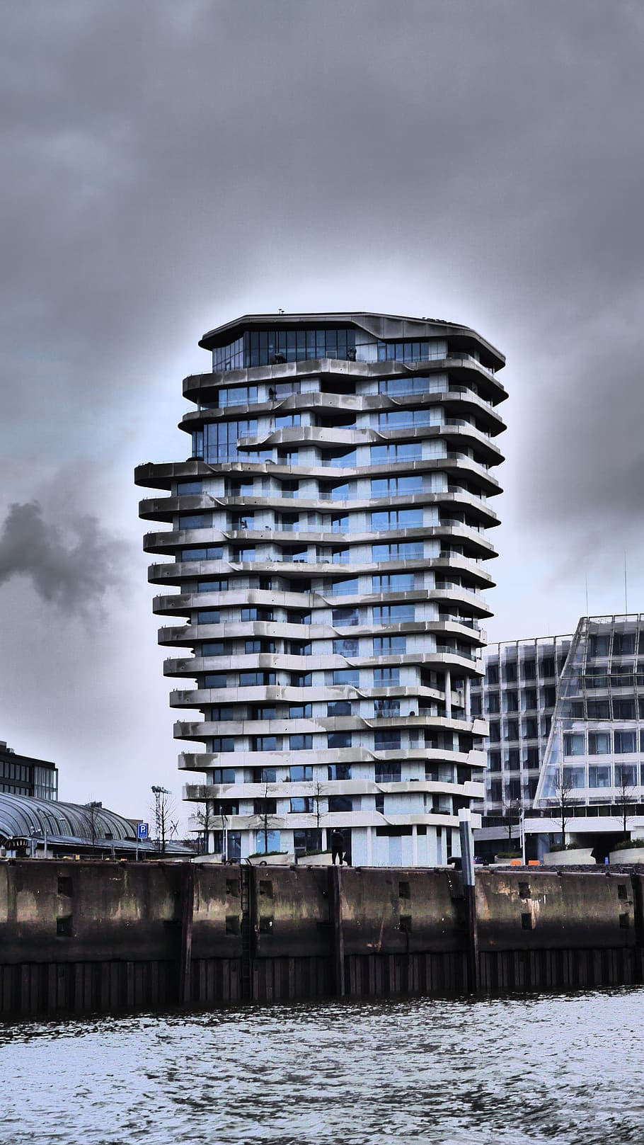 Marco Polo Tower Harbour City, Hamburg, Hanseatic City, Marco-polo-tower, Architecture, Water, Building Exterior, Built Structure, Sky, Cloud - Sky | Pxfuel