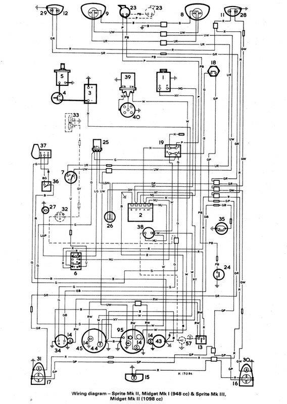 Austin Healey Bugeye Sprite Wiring Diagram \u2013 Vehicle Wiring Diagrams