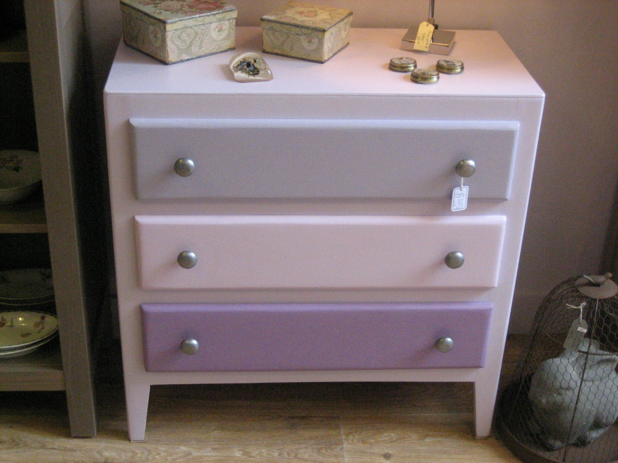 Meuble En Pin Brut Commode Speciale Fille. - Lilicabane