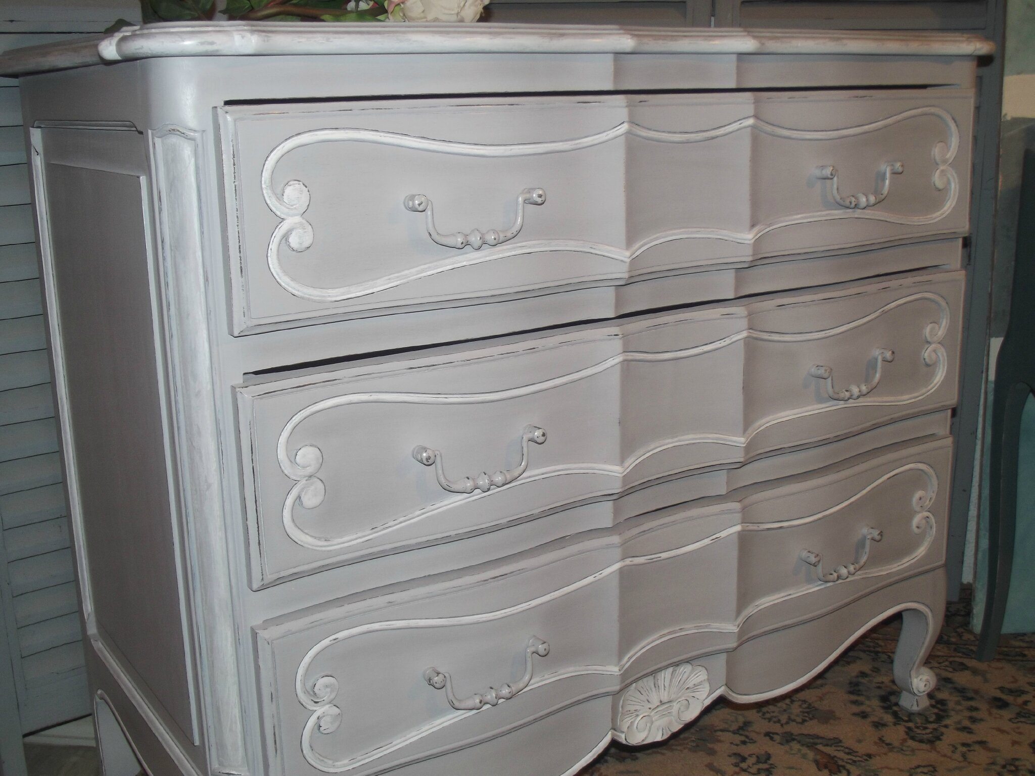 Meuble Style Louis Philippe Commode A Vendre - Patine Relooking Stage Sur Meuble 78