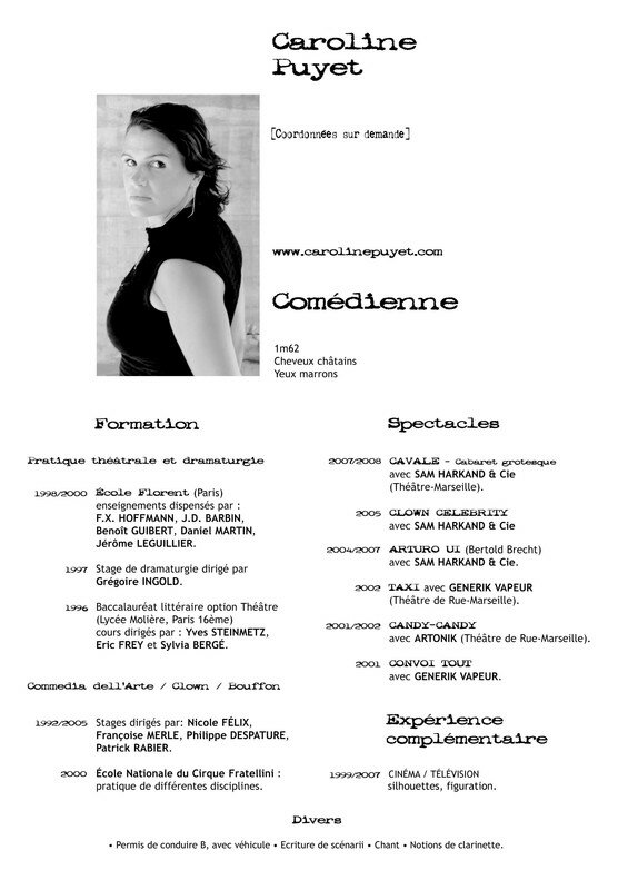 cv obligatoire photo