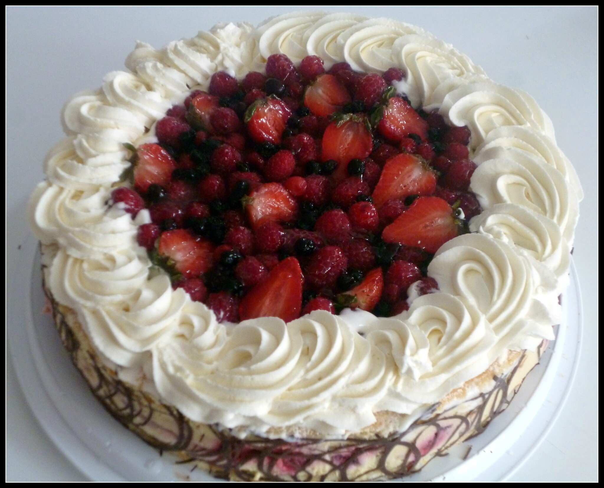 Creme Chantilly Decoration Gateau Deco Fraisier Chantilly