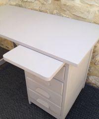 cool ancien bureau comptable repeint gris avec tiroirs et ...