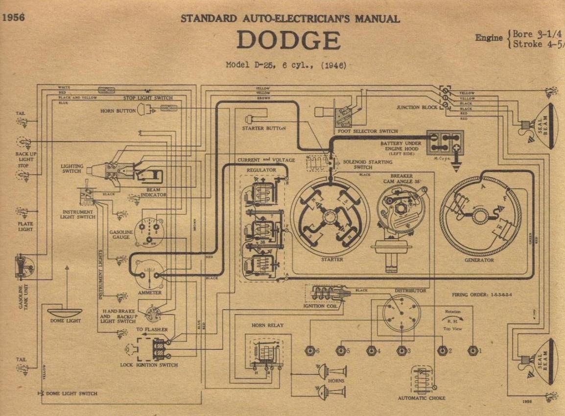 Car Diagrams 1961 Cadillac Wiring Diagram 1967 Plymouth Just 1946 Desoto Schematics