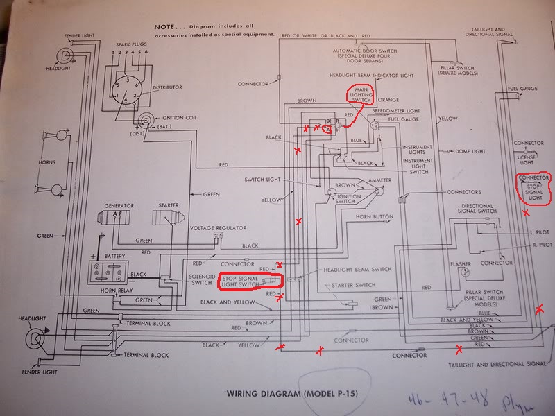 1948 Plymouth Deluxe Radio and Clock Wiring? - P15-D24 Forum - P15