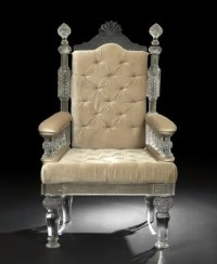 402: Impressive Anglo-Indian Cut-Glass Throne Chair : Lot 402