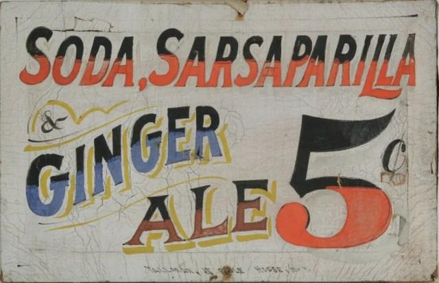 14: Soda Sarsaparilla & Ginger Ale 5¢