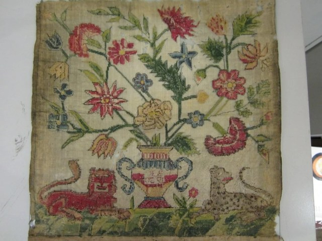 27: Needlework Sampler Initialed 'B.K.', dated 1730