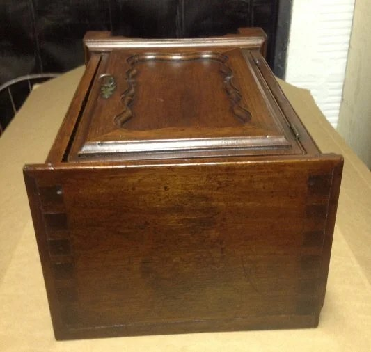 47: Chippendale Walnut Valuables Chest