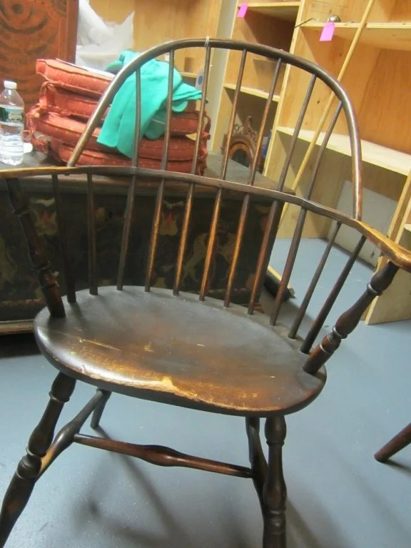 50: Set of Six Painted Sack-Back Windsor Armchairs