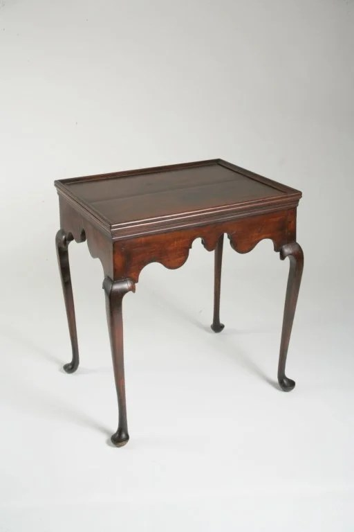 60: Queen Anne Cherry and Maple Tray-Top Tea Table