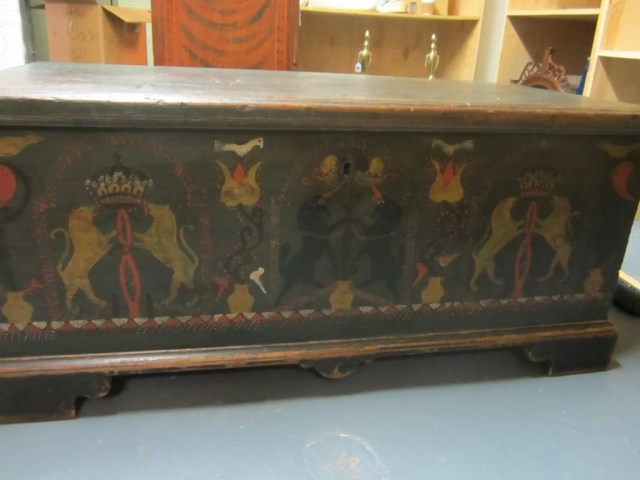 66: Painted and Decorated Dower Chest
