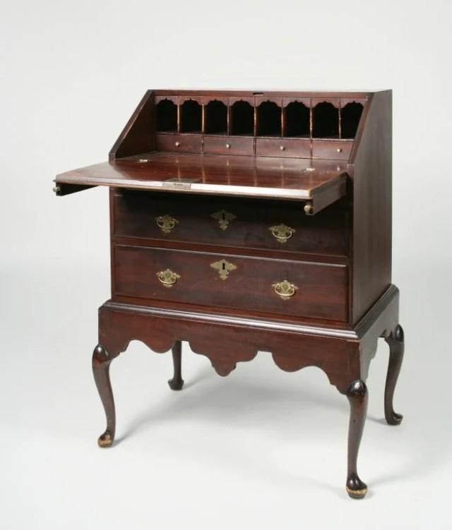 72: Queen Anne Sycamore Child's Slant-Front Desk
