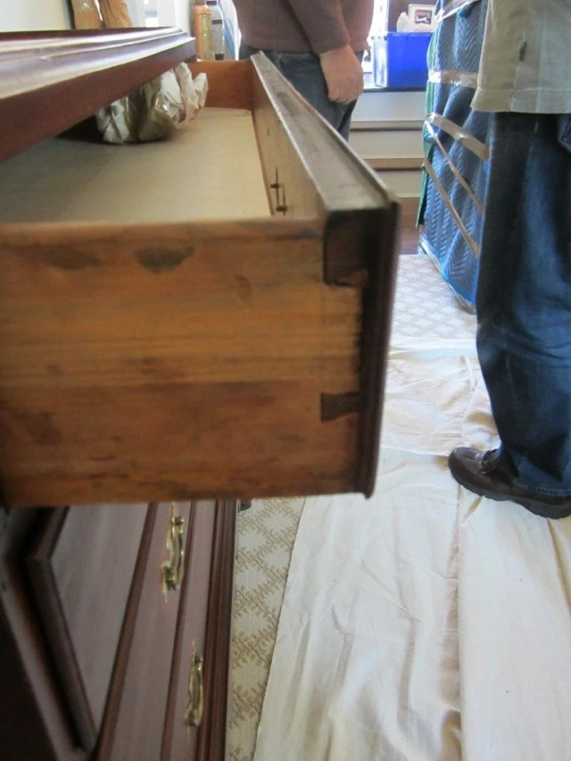 85: Queen Anne Cherry-Wood Chest-on-Chest on Frame